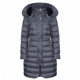 Equetech Alpha Long Padded Coat - Graphite