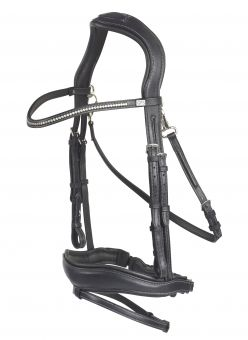 GFS Premier Range Prime Flash Bridle  Black