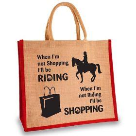 Elico Jute Shopper - Riding & Shopping
