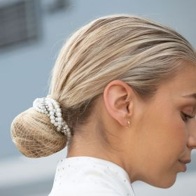 Equetech Braided Crystals & Pearls Bun Ring Scrunchie