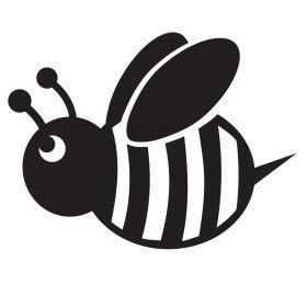 Glamourati Bumble Bee Medium Stencil 2 Pack