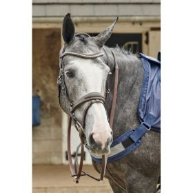 John Whitaker Chicago Perforated Leather Bridle with Bling Browband