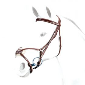 Equipe Grackle Bridle Patent Browband and Rolled Noseband BR33