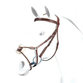 Equipe Grackle Bridle Patent Browband and Elastic Noseband BR34
