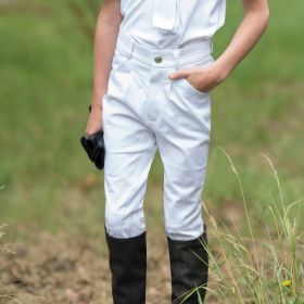 Equetech Boys Sports Breeches - 22 Childs - White - Clearance - Equetech