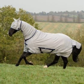 Bucas Freedom Fly Sheet Full Neck Pony Sizes 3'6 to 5'3 Silver
