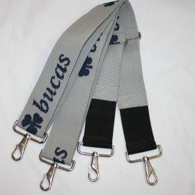 Bucas Internal Surcingle Set - Pair  Silver - Navy