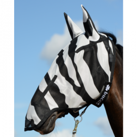 Bucas Buzz Off Zebra FULL FACE Fly Mask