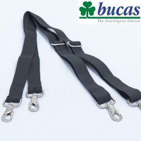 Bucas Deluxe Leg Straps with Swivel Hooks - Black