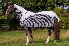 Bucas Buzz Off Rain Zebra Full Neck