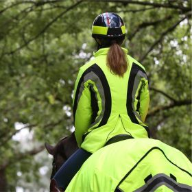 Equisafety Charlotte Dujardin Cadence Reflective Riding Jacket - Yellow
