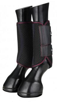 LeMieux Carbon Mesh Wrap Boots - Black - Mulberry
