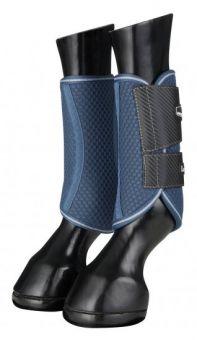 LeMieux Carbon Mesh Wrap Boots - Blue - Grey