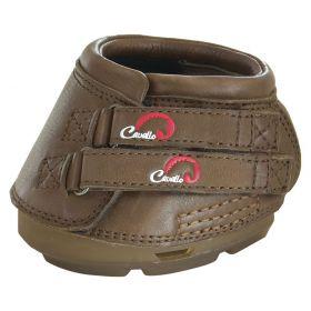 Cavallo Simple Hoof Boots c/w Hoof Pick Brush Brown