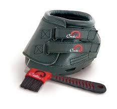 Cavallo Simple Hoof Boots c/w Hoof Pick Brush Black
