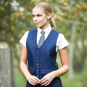Equetech Jacquard Classic Waistcoat Navy