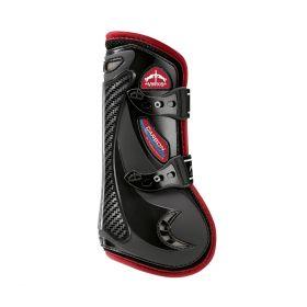 Veredus Colour Edition Carbon Gel Vento Front Tendon Boots - Black Bordeaux