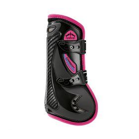 Veredus Colour Edition Carbon Gel Vento Front Tendon Boots - Black Pink