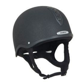 Champion Junior X-Air Plus Jockey Skull Helmet Black