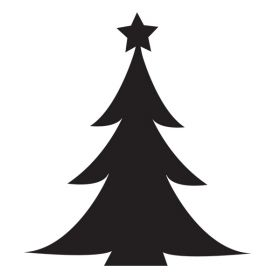 Glamourati Christmas Tree Medium Stencil 2 Pack