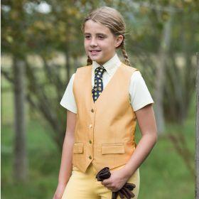 Equetech Junior Jacquard Classic Waistcoat Canary