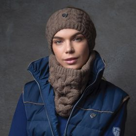Equetech Cable Knit Loop Scarf  Mocha