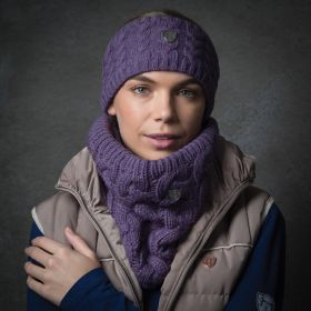 Equetech Cable Knit Loop Scarf  Mauve