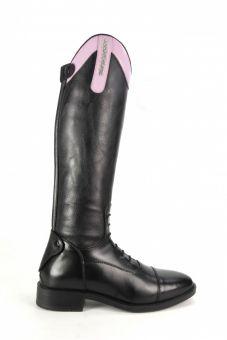Brogini Kids Como Piccino Patent Top Boot - Black & Pink - Brogini