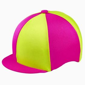 Capz Lycra Hat Cover Fluores Pink and Yellow
