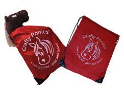 Crafty Ponies Drawstring Bag