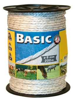 Basic Fencing Rope c/w Copper Wires 200 Metres