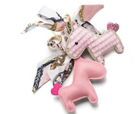 Someh Crystal Horse Keychain - Pink