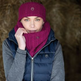 Equetech Cable Twist Knit Snood - Ruby