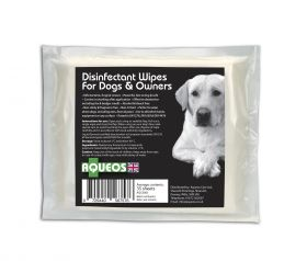 Aqueos Canine Disinfectant Wipes - 35 wipes