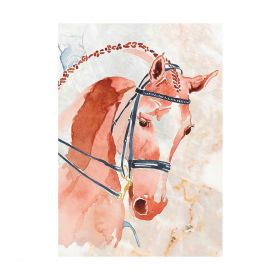 Deckled Edge A4 Watercolour Competition Chestnut Art Print