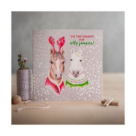 Deckled Edge Christmas Card Season for Silly Jumpers