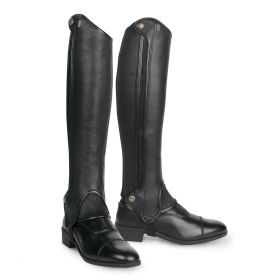 Tredstep Deluxe Half Chaps -Black - 44cm H/33cm W (17in H/13in W) Clearance - Tredstep Ireland
