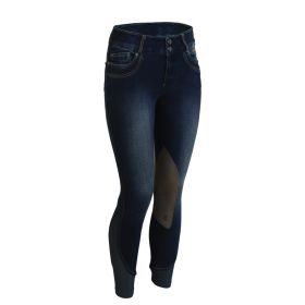Tredstep Denim II Ladies Breeches Knee Patch -30 Ladies EU 40 UK 12-Denim Blue Clearance