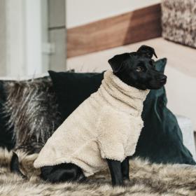 Kentucky Dog Sweater Teddy Fleece - Beige