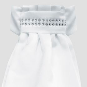 Equetech Deluxe Ready Tied Stock - White/Diamond Band