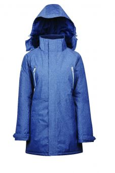 Dublin Amy Mid Length Waterproof Parka - Blue Indigo