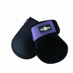 Saxon Contoured Fetlock Boots - Black Purple