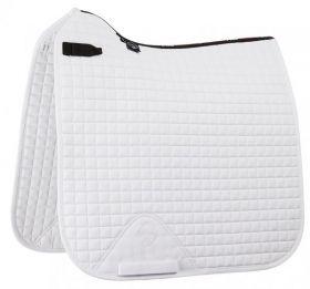LeMieux ProSport Plain Dressage Square - D-Ring White