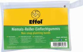 Effol Non-Snap Plaiting Bands 400pk Clear