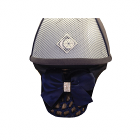 Equetech Crystal Dressage Bow & Net Navy