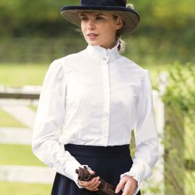Equetech Frilly Show Shirt White