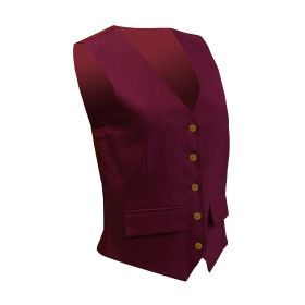 Equetech Junior Jacquard Classic Waistcoat Burgundy