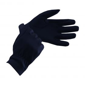 Equetech Junior Leather Show Gloves  Black