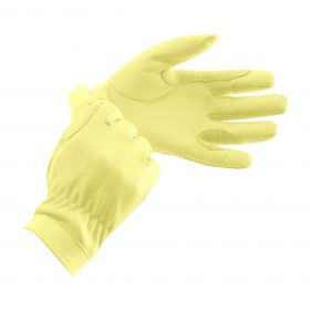 Equetech Junior Leather Show Gloves  Corn