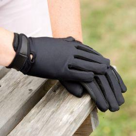 Equetech Junior Stretch Show Gloves  Black